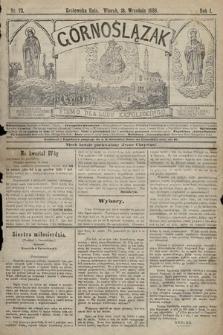 Górnoślązak : pismo dla ludu katolickiego. 1888, nr73