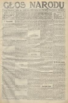 Głos Narodu (wydanie poranne). 1917, nr177