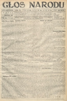 Głos Narodu (wydanie wieczorne). 1917, nr183