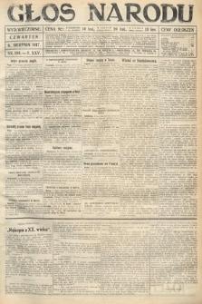 Głos Narodu (wydanie wieczorne). 1917, nr188