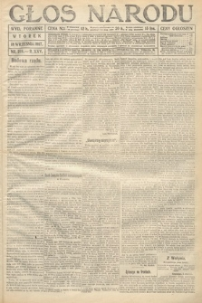 Głos Narodu (wydanie poranne). 1917, nr219