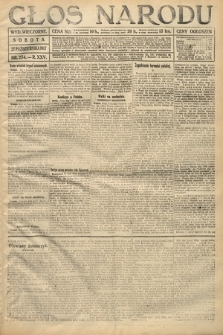 Głos Narodu (wydanie wieczorne). 1917, nr254