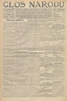Głos Narodu (wydanie wieczorne). 1917, nr302