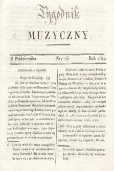 Tygodnik Muzyczny. 1820, nr25