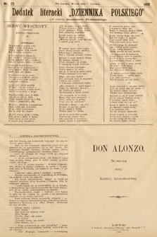"""Dodatek Literacki """"Dziennika Polskiego"""". 1892, nr23"""
