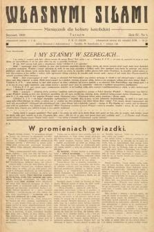 Własnymi Siłami : miesięcznik dla kobiety katolickiej. 1939, nr1