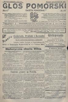 Głos Pomorski. 1922, nr33