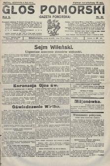 Głos Pomorski. 1922, nr41