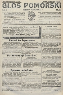 Głos Pomorski. 1922, nr42
