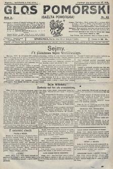 Głos Pomorski. 1922, nr43