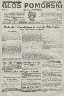 Głos Pomorski. 1922, nr45