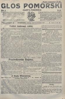 Głos Pomorski. 1922, nr81