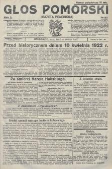 Głos Pomorski. 1922, nr83