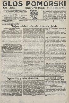 Głos Pomorski. 1922, nr99