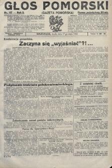 Głos Pomorski. 1922, nr117