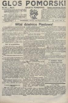 Głos Pomorski. 1922, nr142