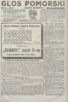 Głos Pomorski. 1922, nr143