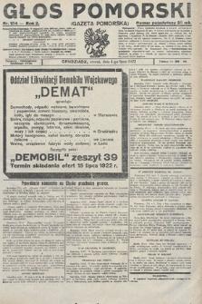 Głos Pomorski. 1922, nr154