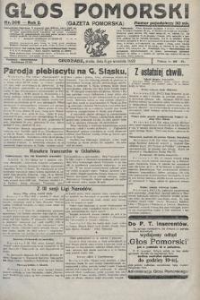 Głos Pomorski. 1922, nr208