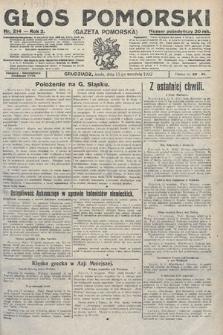 Głos Pomorski. 1922, nr214