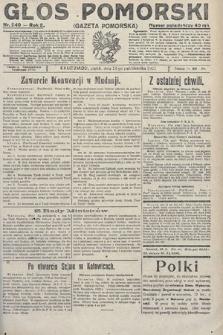 Głos Pomorski. 1922, nr240