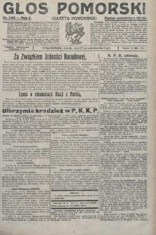 Głos Pomorski. 1922, nr243