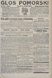 Głos Pomorski. 1922, nr244
