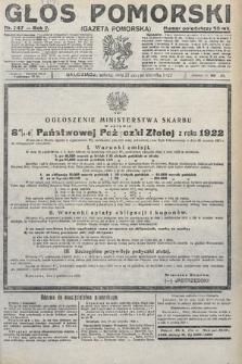 Głos Pomorski. 1922, nr247