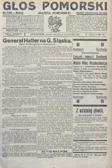 Głos Pomorski. 1922, nr249