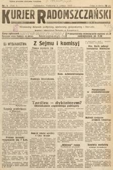 Kurjer Radomszczański : niezależny dziennik polityczny, społeczny iliteracki. 1933, nr1