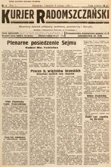 Kurjer Radomszczański : niezależny dziennik polityczny, społeczny iliteracki. 1933, nr4