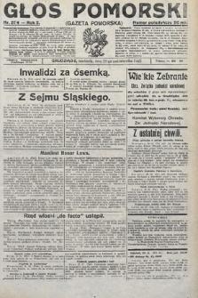 Głos Pomorski. 1922, nr254