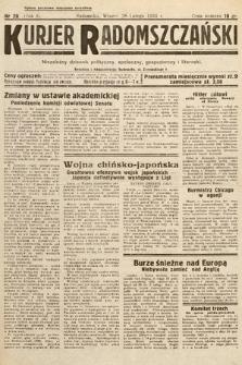 Kurjer Radomszczański : niezależny dziennik polityczny, społeczny iliteracki. 1933, nr20