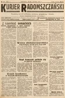 Kurjer Radomszczański : niezależny dziennik polityczny, społeczny iliteracki. 1933, nr21
