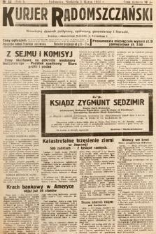 Kurjer Radomszczański : niezależny dziennik polityczny, społeczny iliteracki. 1933, nr25