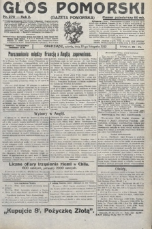 Głos Pomorski. 1922, nr270