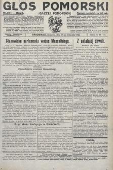 Głos Pomorski. 1922, nr271