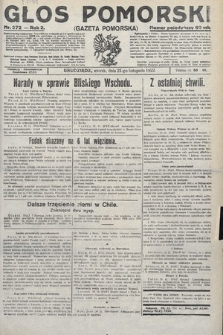 Głos Pomorski. 1922, nr272
