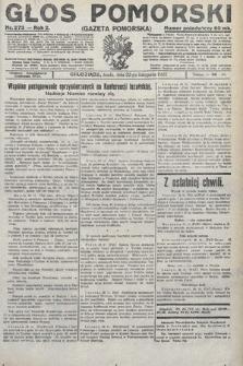 Głos Pomorski. 1922, nr273