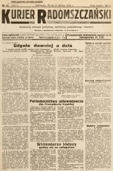 Kurjer Radomszczański : niezależny dziennik polityczny, społeczny iliteracki. 1933, nr33