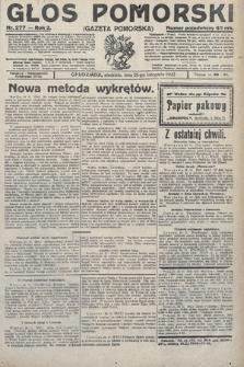 Głos Pomorski. 1922, nr277