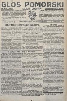 Głos Pomorski. 1922, nr278