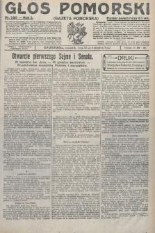 Głos Pomorski. 1922, nr280
