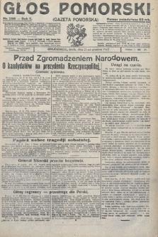Głos Pomorski. 1922, nr296