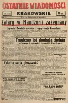 Ostatnie Wiadomości Krakowskie. 1937, nr184