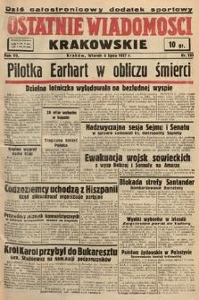 Ostatnie Wiadomości Krakowskie. 1937, nr185