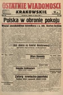 Ostatnie Wiadomości Krakowskie. 1937, nr189