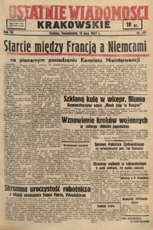 Ostatnie Wiadomości Krakowskie. 1937, nr191