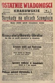 Ostatnie Wiadomości Krakowskie. 1937, nr194