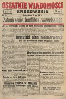 Ostatnie Wiadomości Krakowskie. 1937, nr196